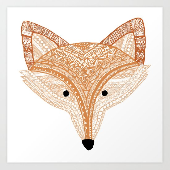 Golden Fox  Art Print