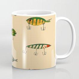 Vintage Fishing Lures Pattern Coffee Mug