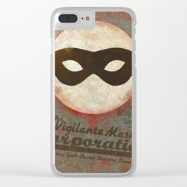 The Vigilante Mask Corps. Clear iPhone Case