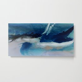 DEEP - Resin painting Metal Print
