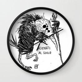 Mostro Brutto alienato Wall Clock