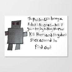 Robot Problems Canvas Print