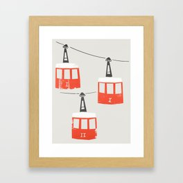 Barcelona Cable Cars Framed Art Print