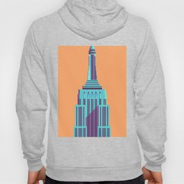 Empire State Building New York Art Deco - Orange Hoody