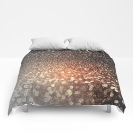 Tortilla brown Glitter effect - Sparkle and Glamour Comforters