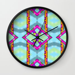 Something Kitsch and Funky 80s Style Pattern Wall Clock