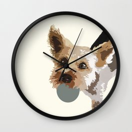 Rex in cream Wall Clock
