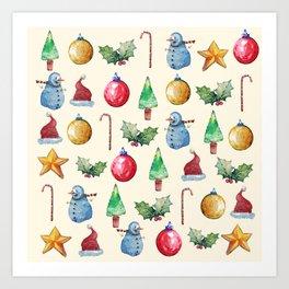 Christmas!! Pattern! (Holidays) Art Print