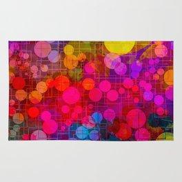 Rainbow Bubbles Abstract Design Rug
