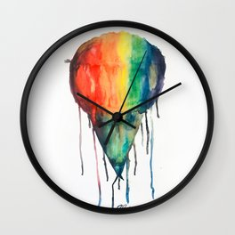 RAINBOW SOWBALL Wall Clock