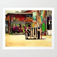 grafitti Art Prints featuring Slum Grafitti by Squint Photography