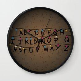 Christmas bulbs alphabet Wall Clock