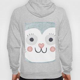 Cute Cartoon Cat Face Hoody
