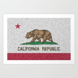 California Flag Distorted Art Print