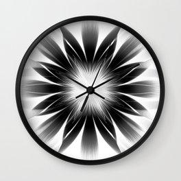 Dark Starburst Wall Clock