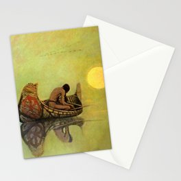 "N C Wyeth Vintage Western Painting ""Fishing Line"" Stationery Cards"