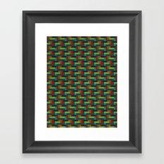 Woven Pixels IV Framed Art Print