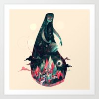 kpop Art Prints featuring Night Time. by Karl James Mountford