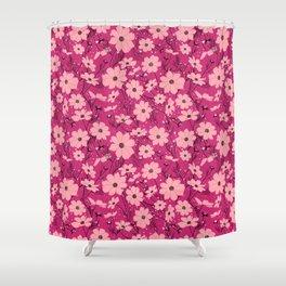 Cosmea pink Shower Curtain