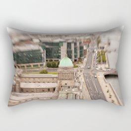 Dublin city center aerial view Rectangular Pillow