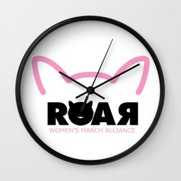 Woman Roar Wall Clock