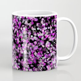 Pink, White and Black bubble texture Coffee Mug
