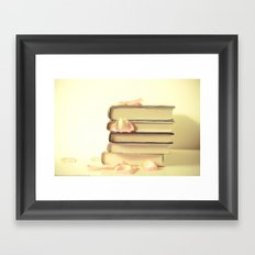 She Wrote Stories and Kept Them Quietly in Her Heart Framed Art Print