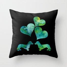 Dachshunds Art Throw Pillow