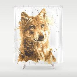 Coffee Wolf Shower Curtain