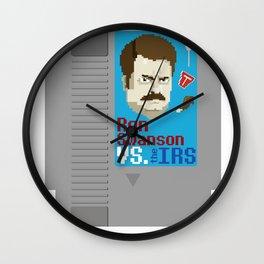 Ron Swanson VS. the IRS Wall Clock
