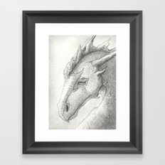 Dragon, Eyes Closed Framed Art Print
