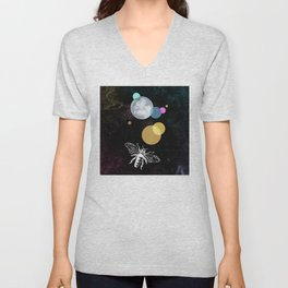 Moth in the night Unisex V-Neck