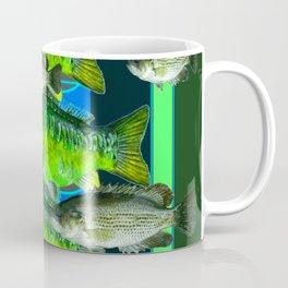 MODERN ART DECORATIVE GREEN FISH AQUATIC Coffee Mug