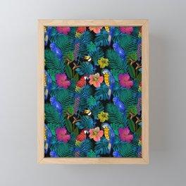 Tropical Birds and Botanicals Framed Mini Art Print