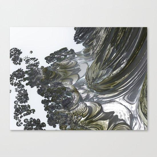 Ducat Waterfall (3D Digital Fractal Art) Canvas Print