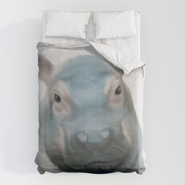 hippo, be fat like a hippo, self respect for children Comforters