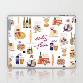 Paris Food Map Laptop & iPad Skin