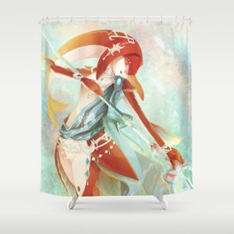 Botw: Mipha Shower Curtain