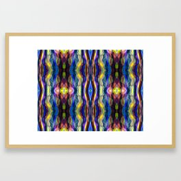 Hand Painted Waves Framed Art Print