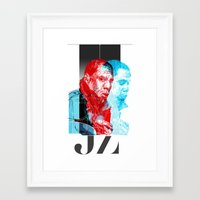 jay z Framed Art Prints featuring JAY-Z by michael pfister