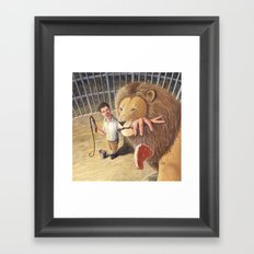 Don't Bite the Hand That Feeds You Framed Art Print