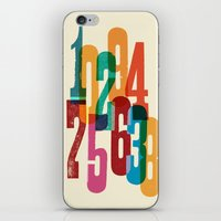 numbers iPhone & iPod Skins featuring Numbers by Marco Campedelli