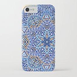 Blue Morocco Tile Mandala iPhone Case