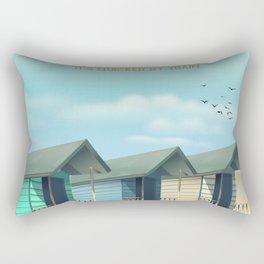 Great Yarmouth Beach travel poster Rectangular Pillow