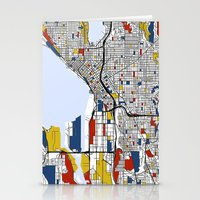 seattle Stationery Cards featuring Seattle by Mondrian Maps