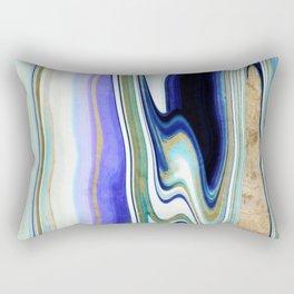 geode art, agate art, agate slice, agate slice art, mineral art, abstract agate, contemporary art Rectangular Pillow