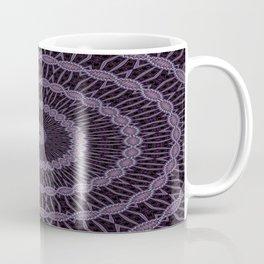 Lilac And Purple Circles Double Helix Mandala Pattern Coffee Mug