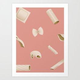 Pasta Pattern - Pink Art Print