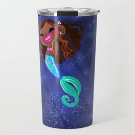 Black mermaid Travel Mug