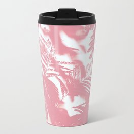 Pink palm trees Metal Travel Mug